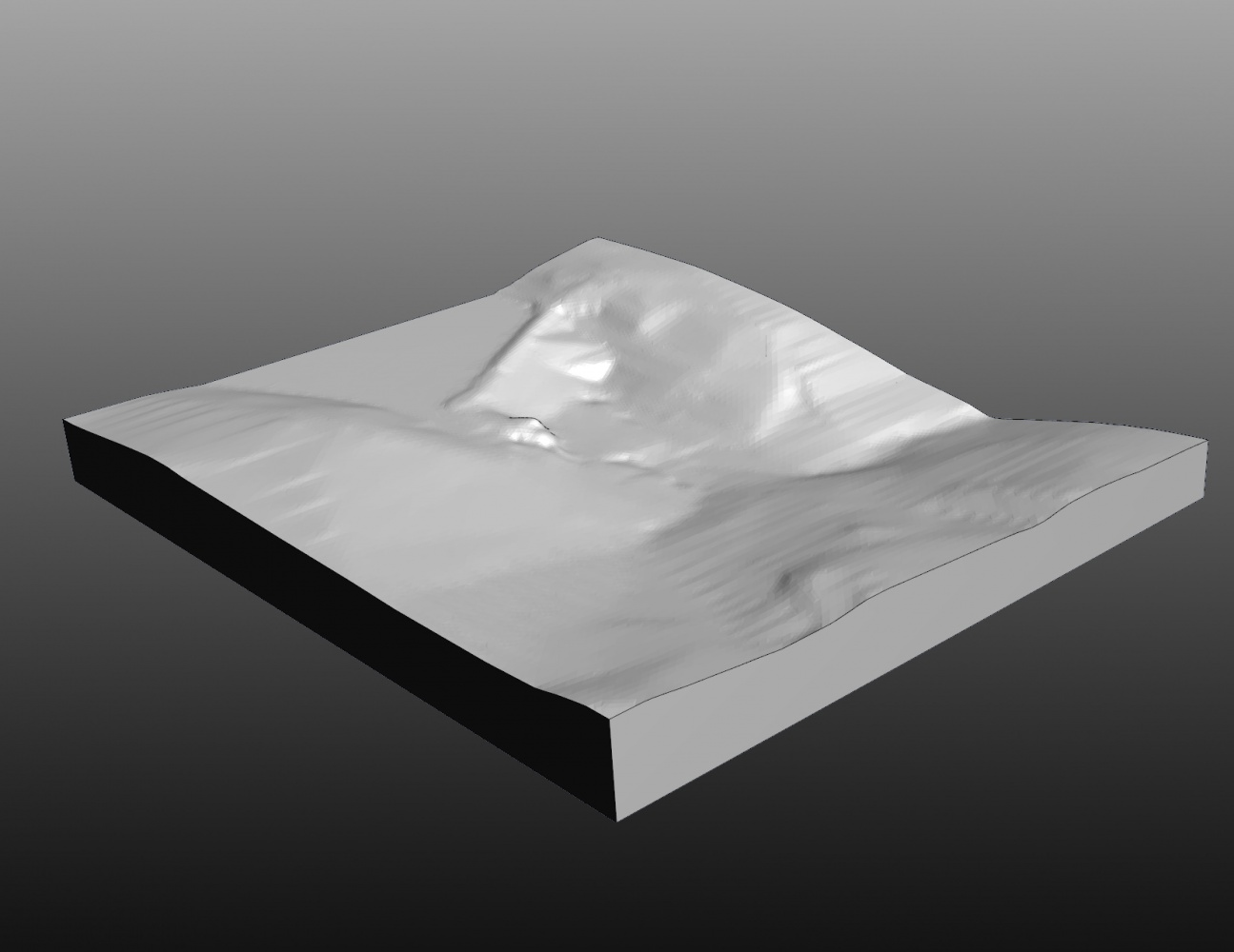 Digital Proof of Terrain Model before Milling