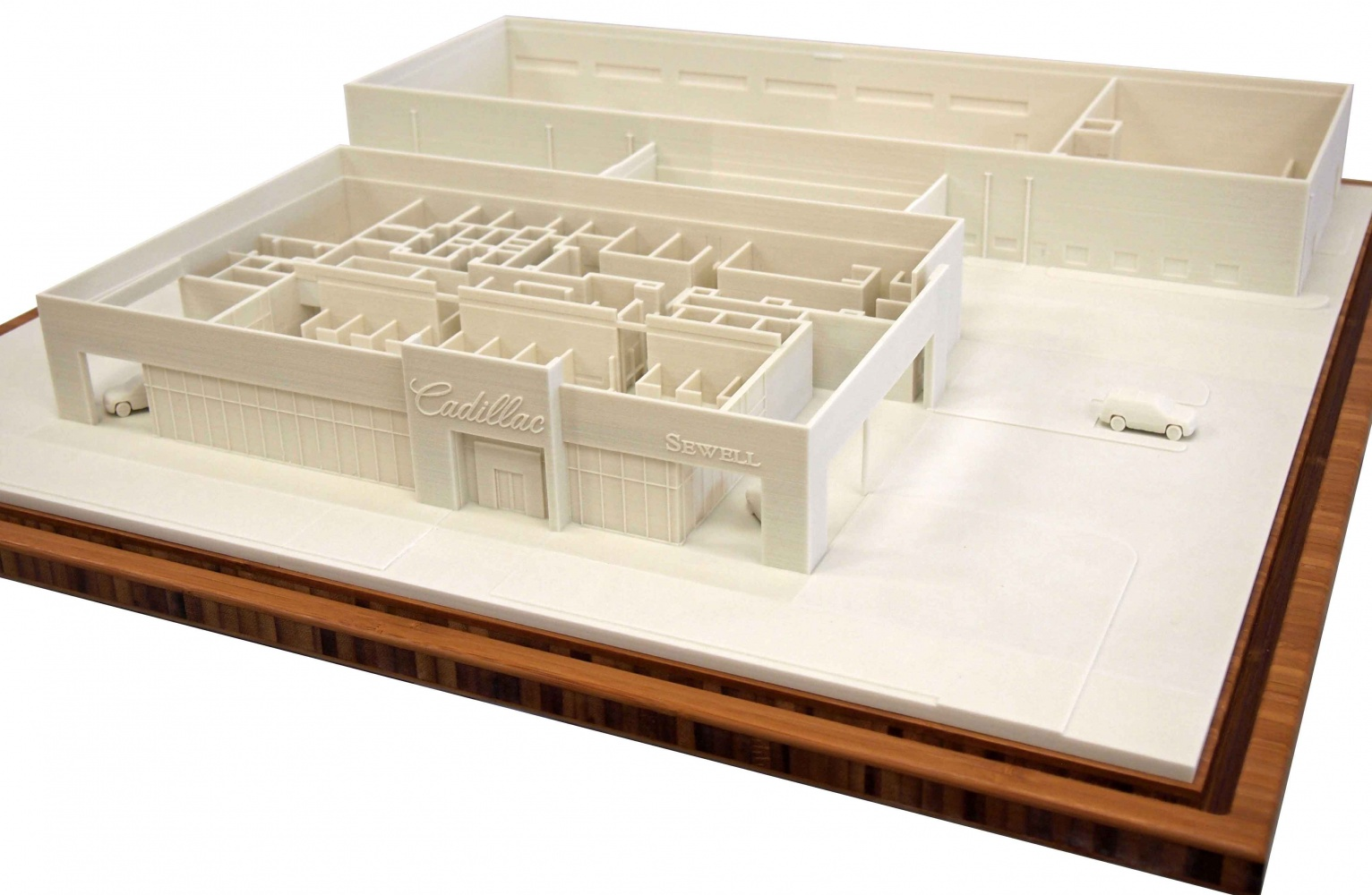 3D Print of Cadillac Dealership Building with Interior