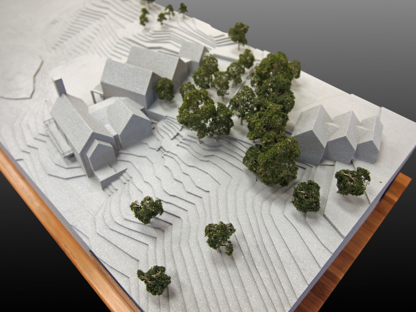 3d printed architectural model painted with trees lgm 3d site