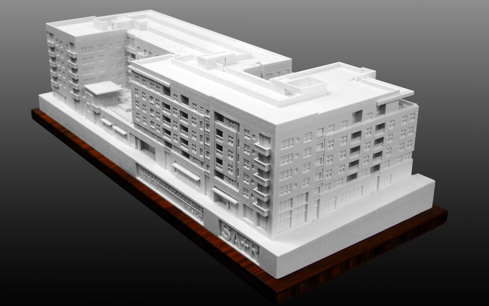 3D Printed model of proposed Apartment Complex
