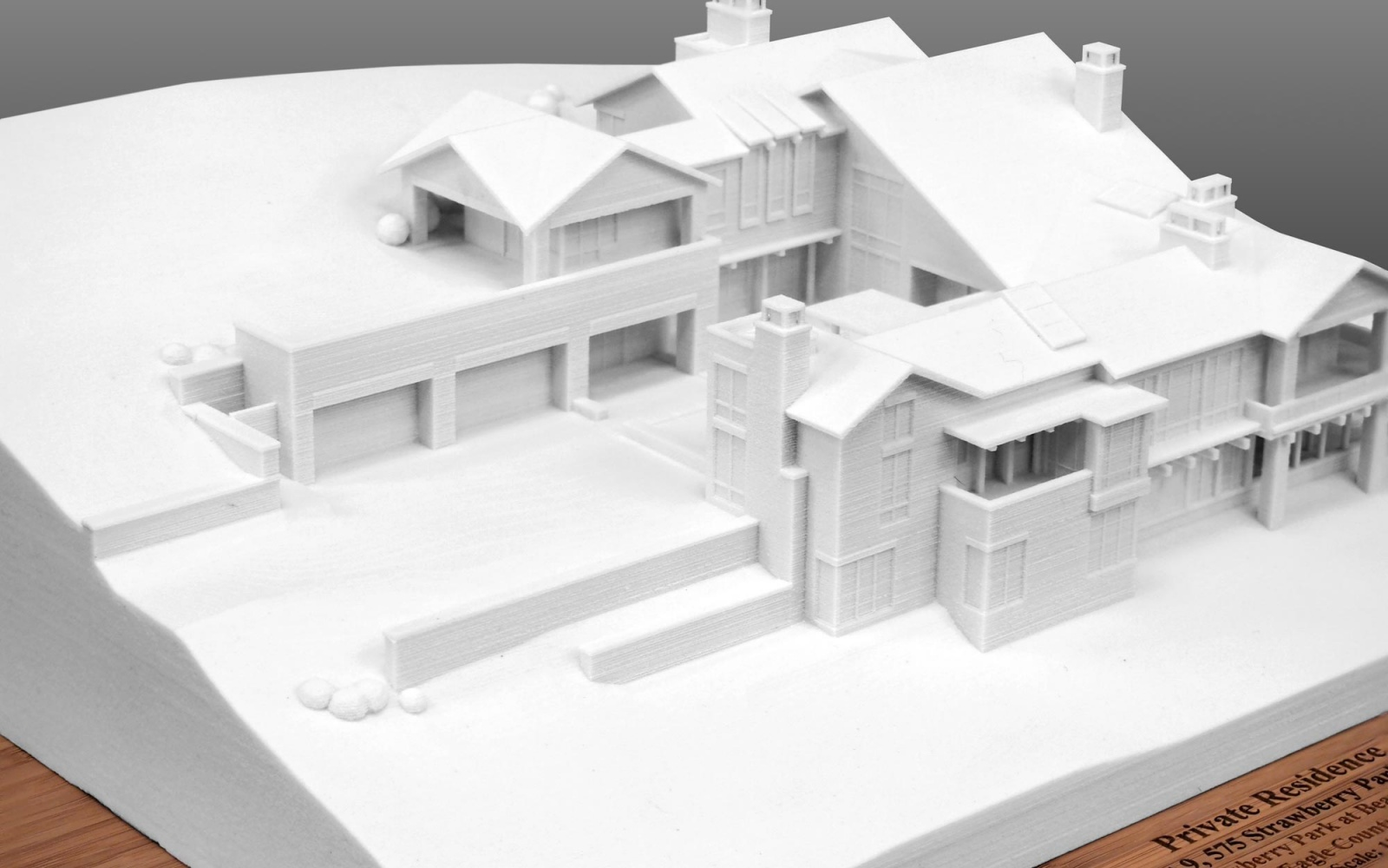 Architectural 3d Print Model Of A Private Residence Lgm