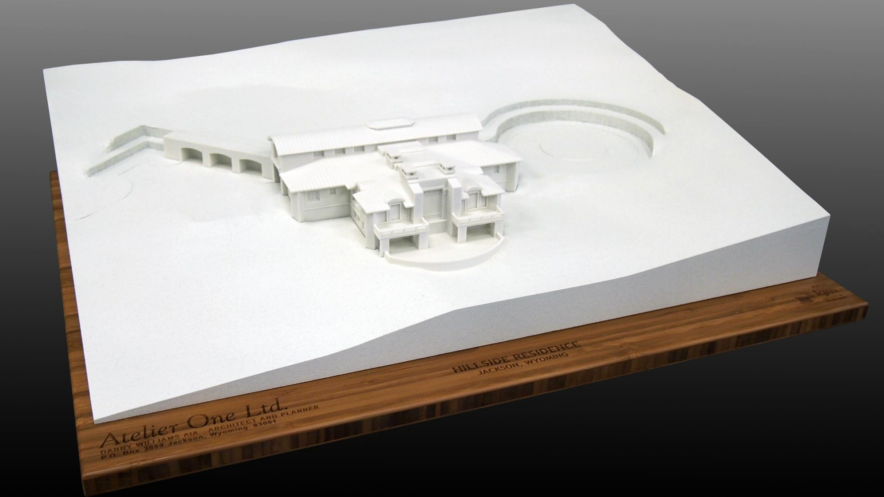 Hillside residence 3d printed architectural model of a for 3d printed model house