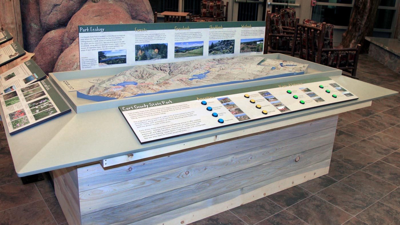 3D State Park Map with LED display