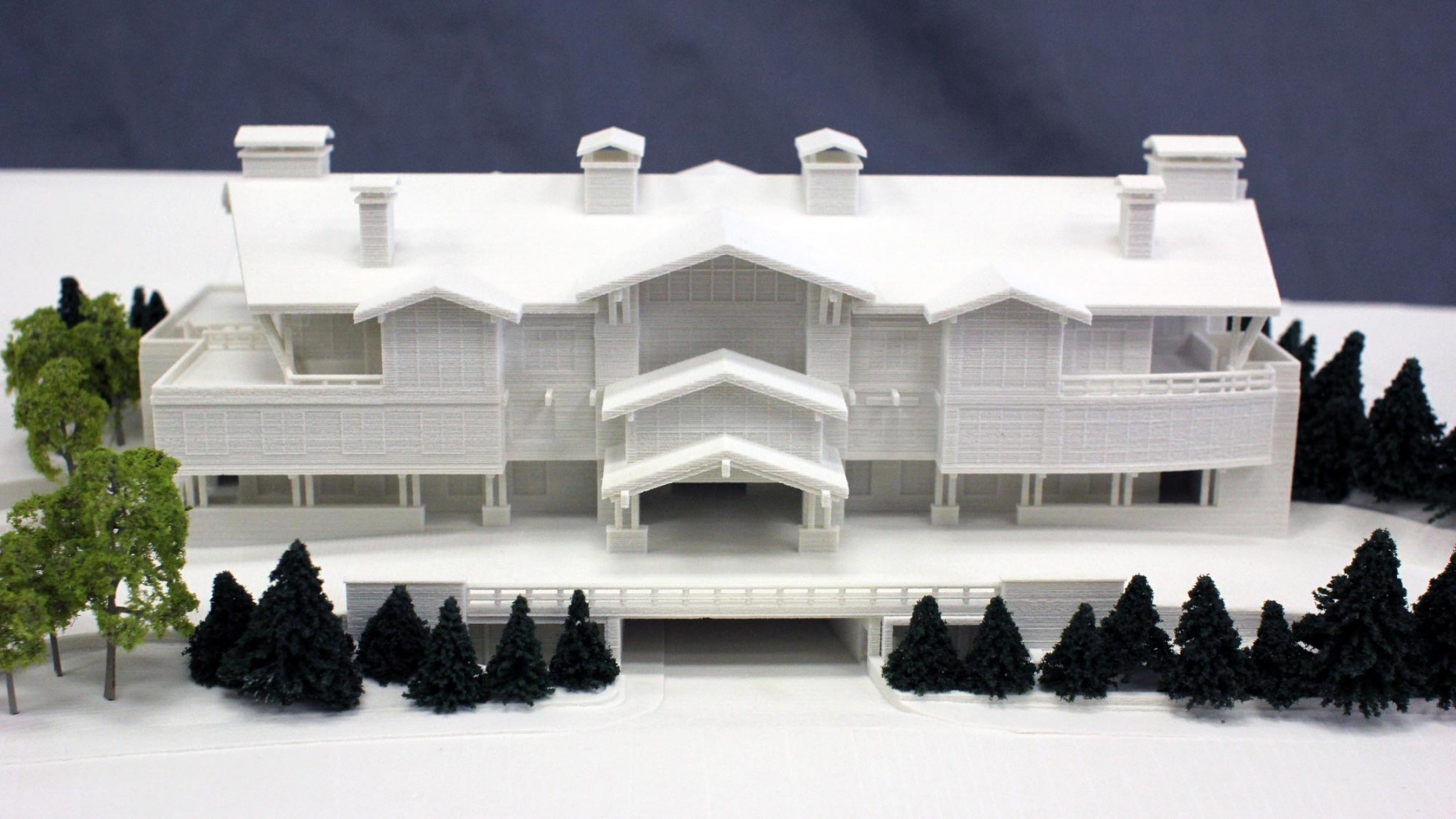 Architectural 3D Print of Ski and Snowboard Club Vail