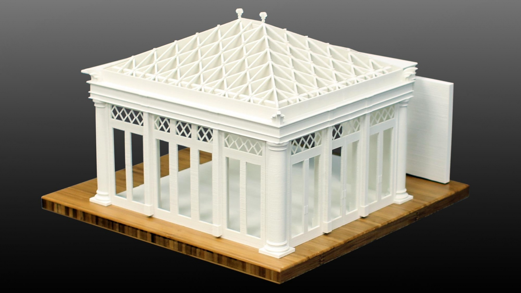 "Originally computer modeled in ArchiCAD, LGM developed this physical 1/2"" = 1' model to aid in this project's continued design and development."