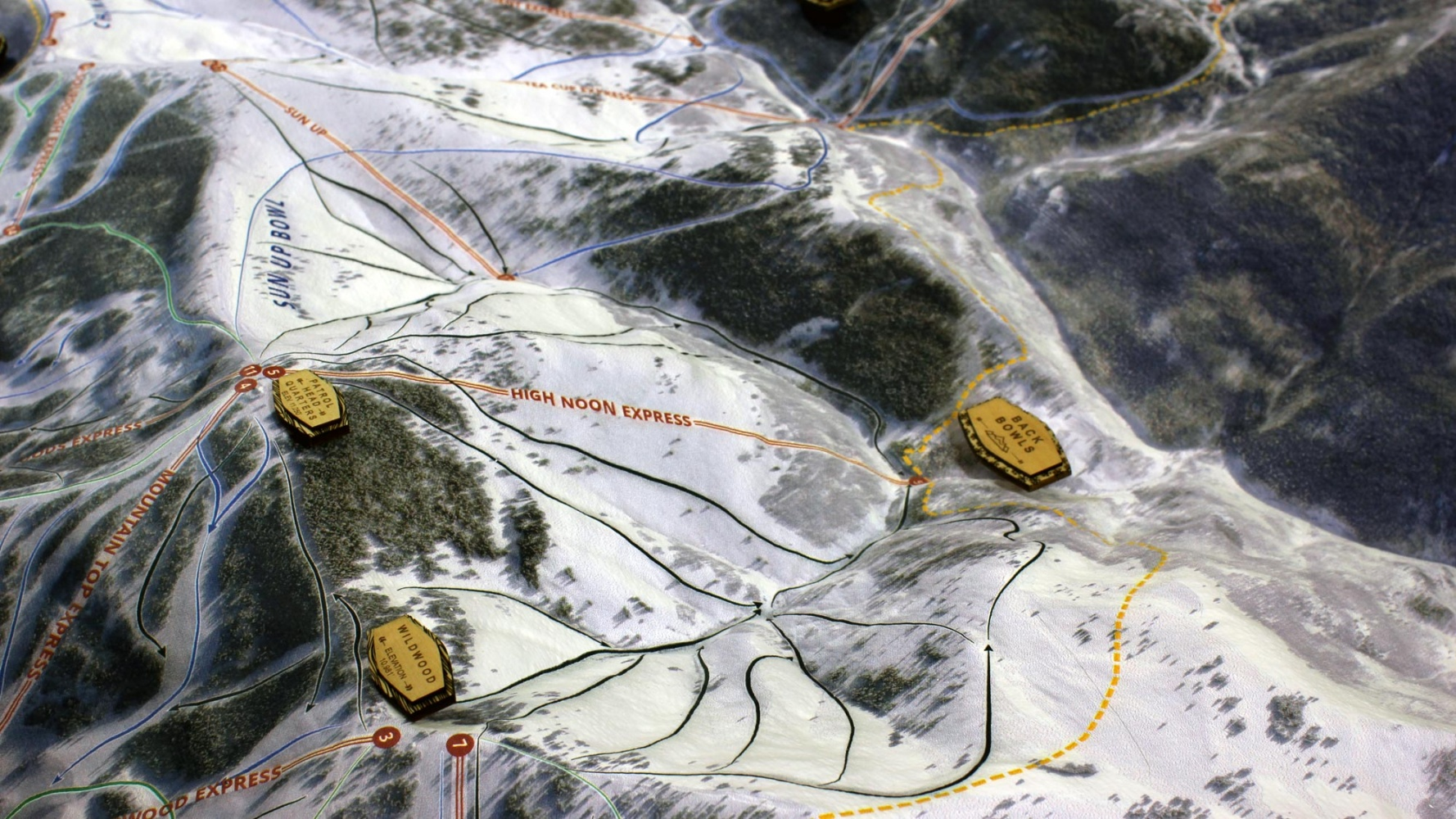 3d satellite map of vail ski mountain