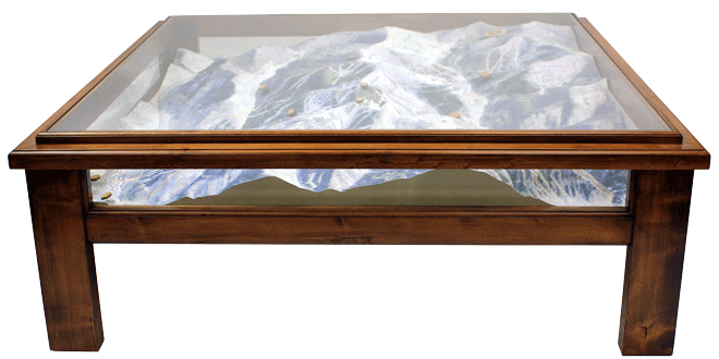 vail mountain coffee table