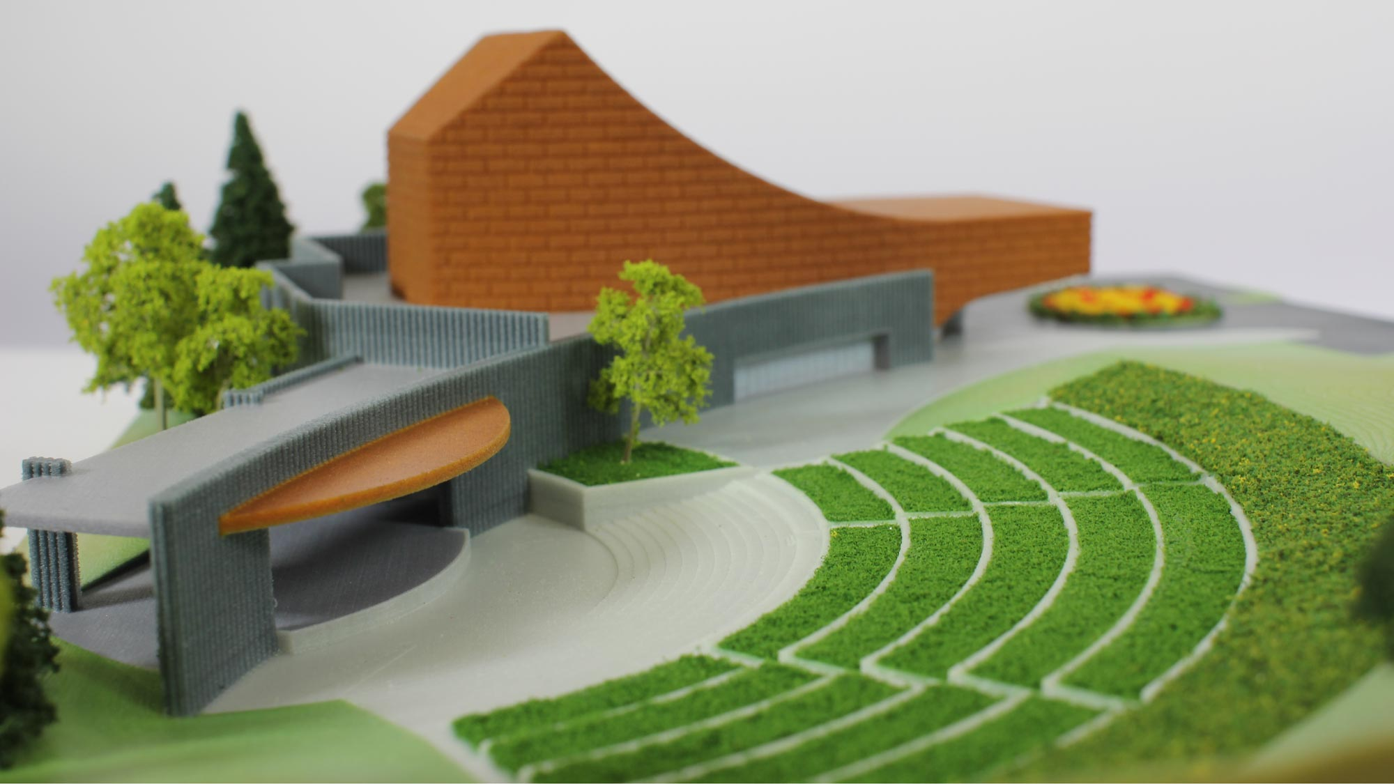 Commercial architectural 3d printing in color