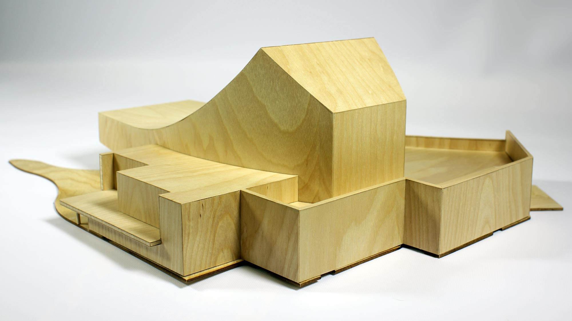 laser cut wooden architectural model