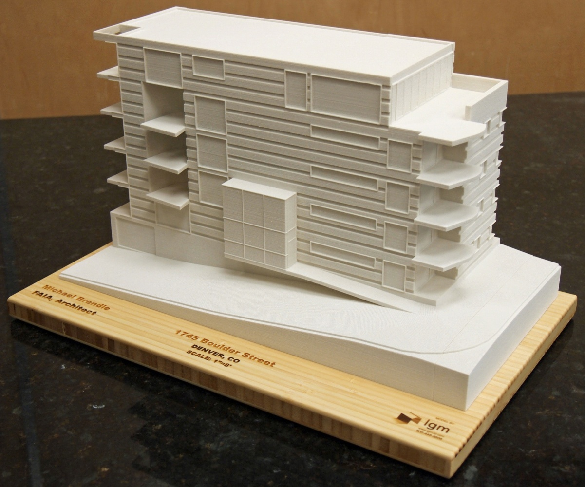 3D Print of a proposed Mid-rise building
