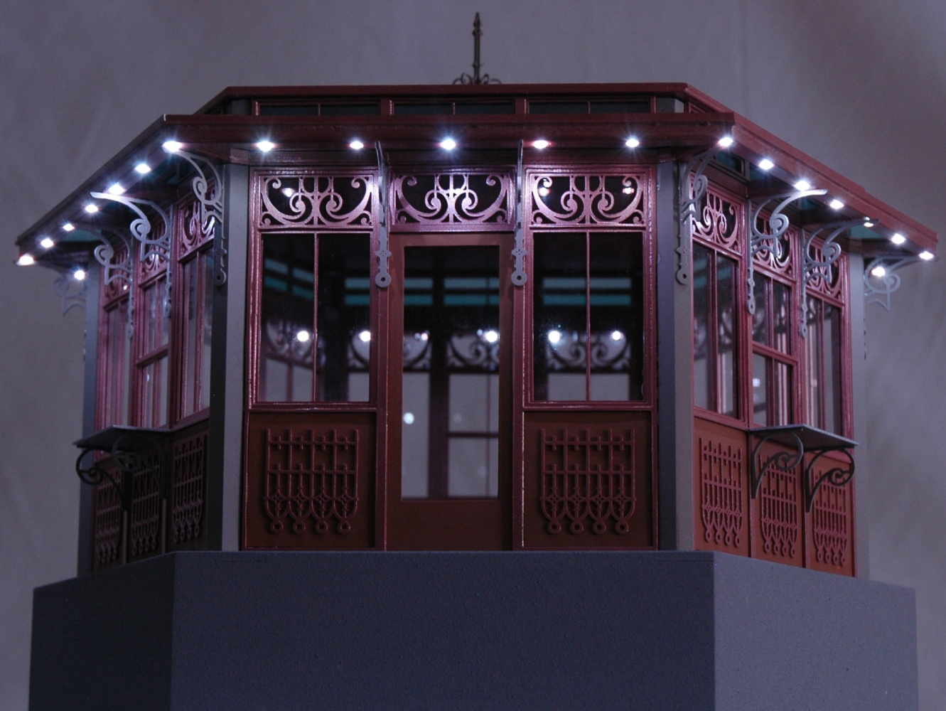 Full Color Trade Show Display Model with LED Lighting