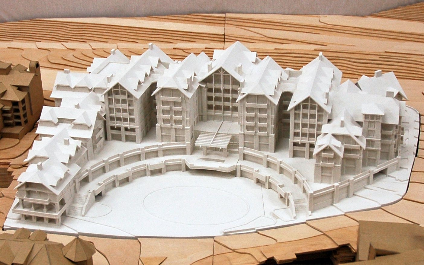 Photo realistic architectural model with led display lgm for 3d printer house for sale